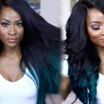 Kylie Jenner Inspired Black And Teal Ombre Tutorial [Video]