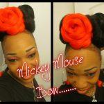 Mickey Mouse Bow Bun Updo [Video]