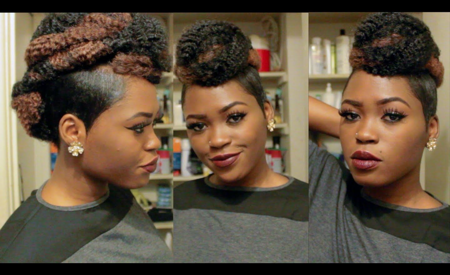 Mohawk Updo With Shaved Sides Video Black Hair Information