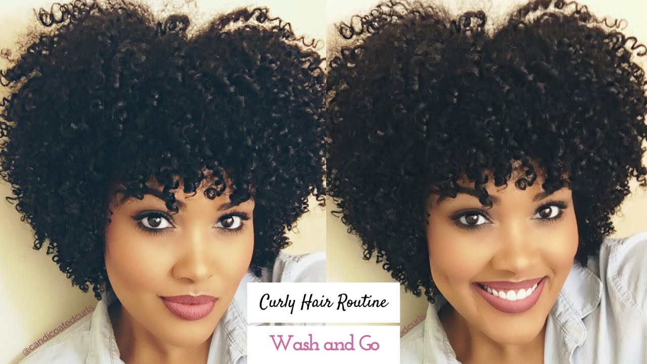 My Curly Hair Routine Wash And Go Video Black Hair Information