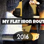 My Flat Iron Routine | Natural Hair [Video]