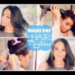 My Wash Day Hair Routine | Washing & Straightening
