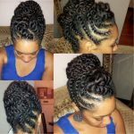Natural Hair Flat-twist Updo Protective Style [Video]