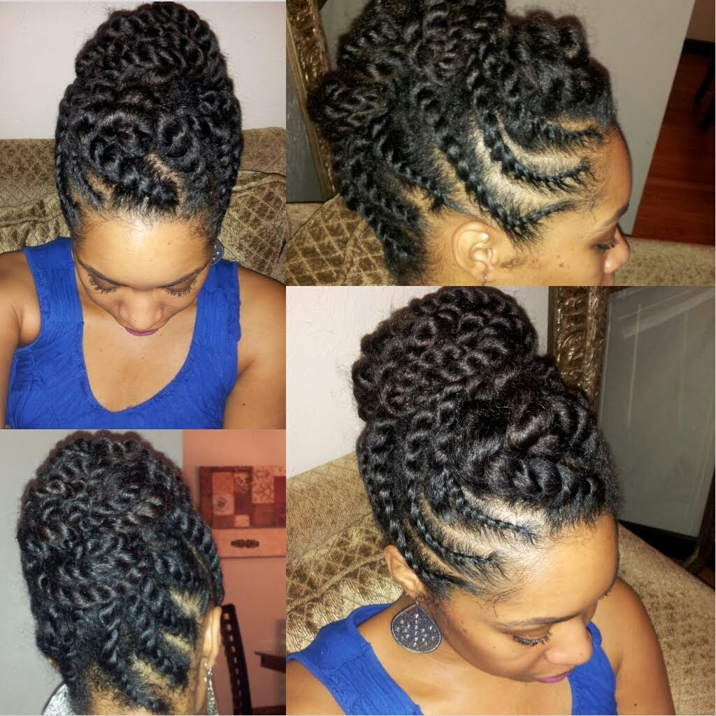 Natural Hair Flat-twist Updo Protective Style [Video ...