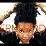 Natural Hair Perm Rod Twist And Curl Tutorial - Part 2
