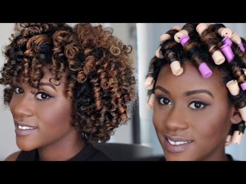 Natural Hair Tutorial Perm Rod Set Video Black Hair
