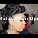 Natural Hair Updo With Braiding Hair Tutorial