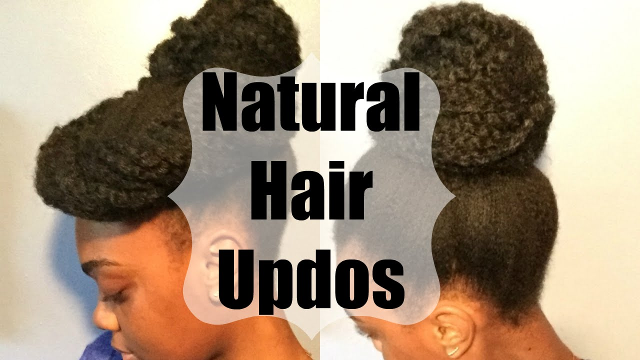 Natural Hair Updos With Marley Hair Video Black Hair