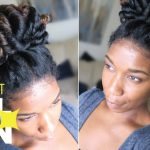 Perfect Curl Bun – Easy Heatless Natural Hairstyle