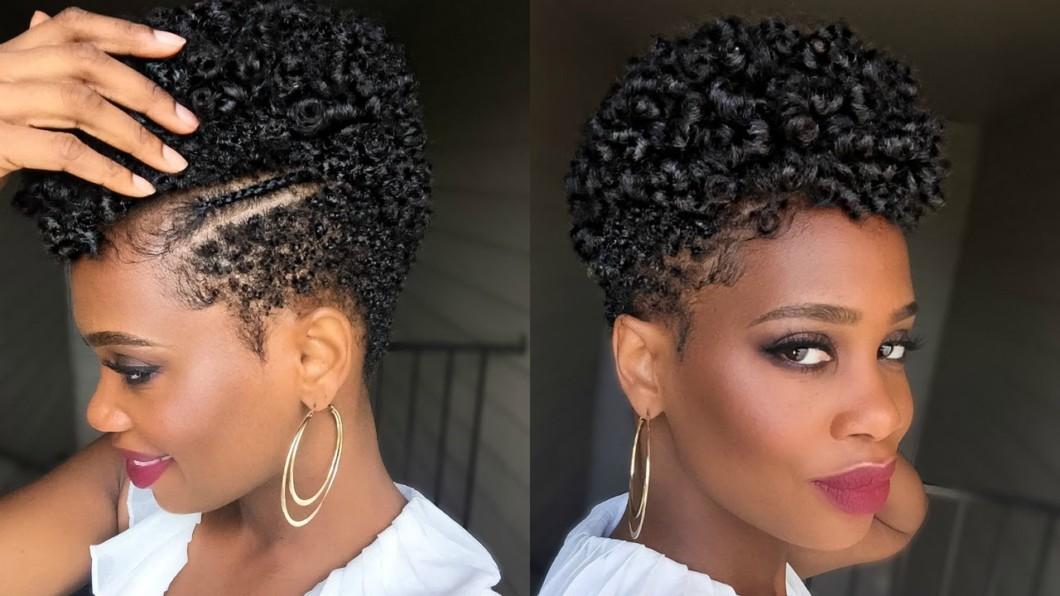 Rod Set Natural Black Tapered Cut Hair