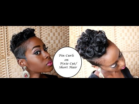 Pin Curls On Pixie Video Black Hair Information