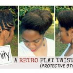 Protective Flat Twist Updo [Video]