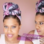 Quick And Easy Headwrap Tutorial on Natural Hair [Video]