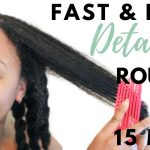 QUICK & EASY DETANGLING ROUTINE IN 15 MINUTES or LESS | Natural Hair [Video]