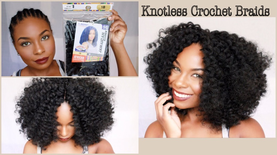 Quick Crochet Hair : Quick & Simple Crochet Braids (Knotless Method) [Video] - Black Hair ...