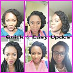 Quick Updos For Braids Twists or Locs [Video]