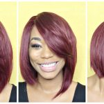 Red Quick Weave Razor Cut [Video]