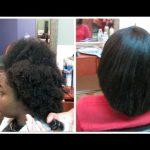 Straightening 4C Natural Hair: Light Press! [Video]