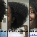 Straightening Type 4C Natural Hair | Light Press
