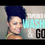 Tapered Cut | Wash N Go Type 4a/4b Hair [Video]