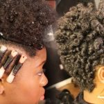 Tapered Haircut + Perm Rod Set on 4C Natural Hair [Video]