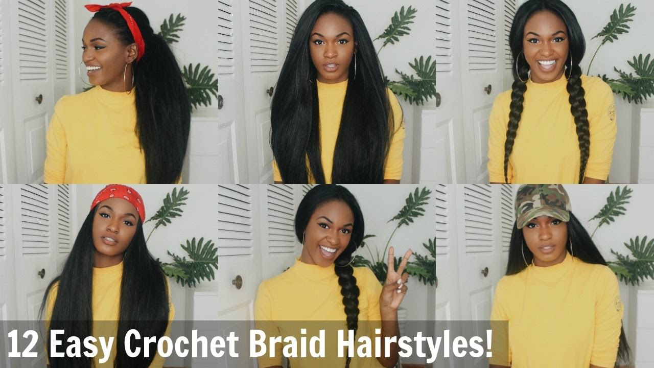 12 Super Easy Straight Crochet Hairstyles!