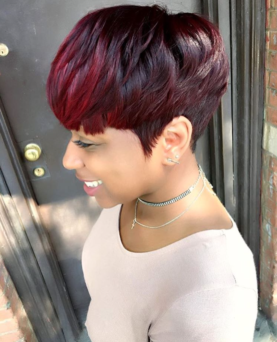 Gorgeous cut and color via @artistry4gg - Black Hair Information