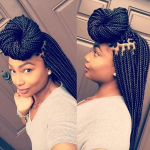Flawless box braids by @laidbylandyy_