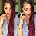 Dope red ombre braids @eugenze
