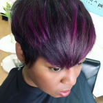 Purple pixie via @salonpk