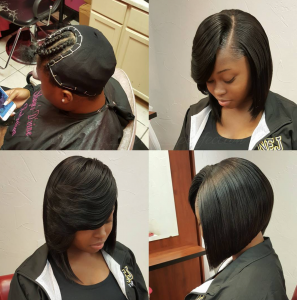 Nice quick weave bob via shayes dvine perfection black for A little off the top salon