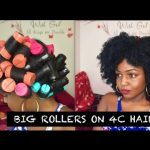Big Rollers on 4C Hair
