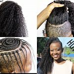 HOW TO DO A Versatile Sew In Hairstyle / With Shaved Sides Only (20 Minutes) [Video]