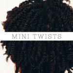 How To: Mini Twist on Short Natural 4b/4c Hair | Mielle Organics [Video]