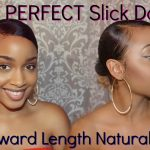How To| Sleek Bun Tutorial on Awkward Length/Short Natural Hair [video]