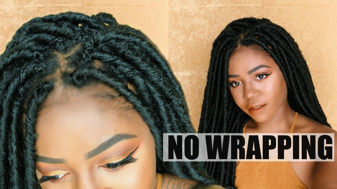 Individual Crochet Faux Locs With No Wrapping Tension