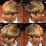 Nice ash blonde pixie by @msklarie