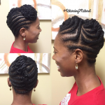 Cute twisted style by @returning2natural
