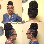 Beautiful updo by @returning2natural