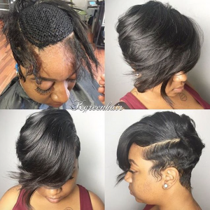 Nice Short sew in by @k.green_hair - Black Hair Information