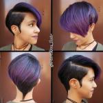 Gorgeous purple pixie @mariedee_hair