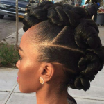 Creative faux hawk via @magicfingersstudio