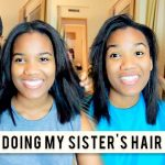 Doing My Sister's Relaxed Hair | Wash + Flat Iron [Video]
