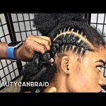 FEED IN BRAIDS WITH OMBRE HAIR [Video]