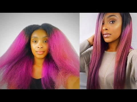 How I Straighten My Natural Hair Using The Mane Choice Thermal Defense Collection Video Black Hair Information