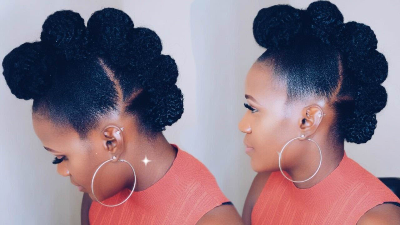 Faux Hawk Updo On Short Natural Hair [Video