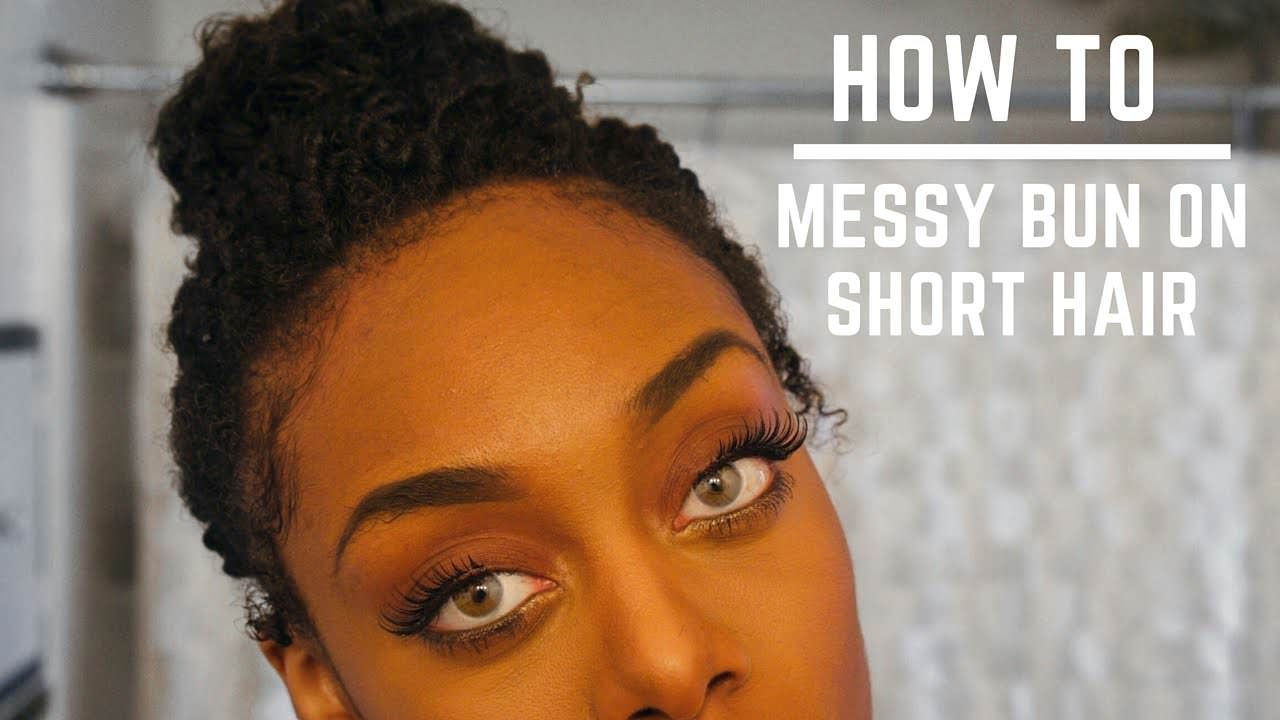 How To: Messy Bun For Short Natural Hair (TWA) [Video