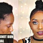 How To Ninja Top Knot Bun Tutorial On Short 4C Natural Hair Collab [Video]