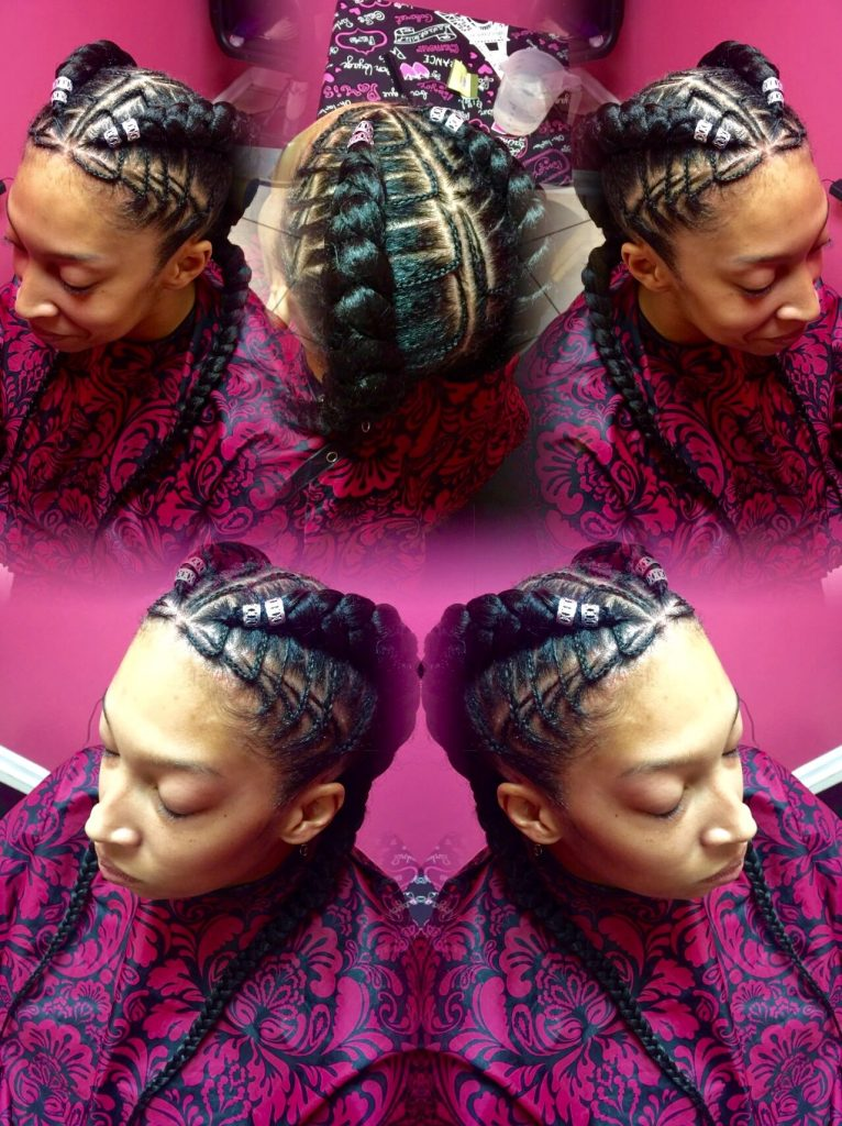 Freehand Feed In Stitch Braids Tzipporah Braidingstudio