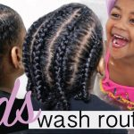 KIDS WASH DAY + Protective Style – Start to Finish | Kids Natural Hair Care Regimen [Video]